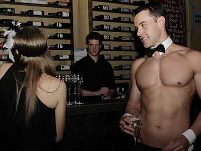 Topless Waiters working at Mofo Lounge for Hens Party